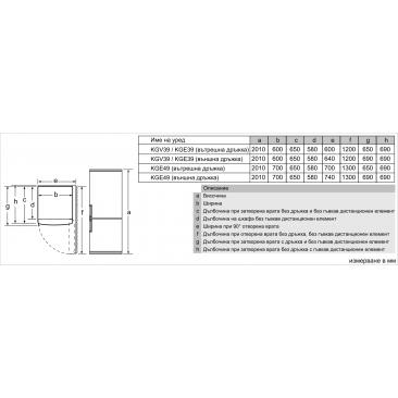 Хладилник с фризер Bosch KGV39VLEA - Изображение 6