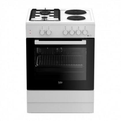 Готварска печка Beko FSE 64010 DW/ГАЗ - Изображение