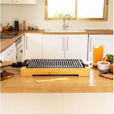 Електрическа скара Cecotec Tasty&Grill 2000 Bamboo LineStone - Изображение 2
