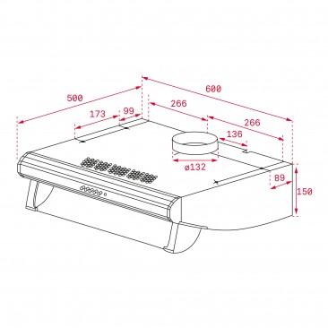 Свободностоящ абсорбатор Teka C 6420 инокс - Изображение 4