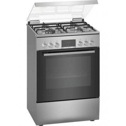 Свободностояща комбинирана готварска печка с газови котлони Bosch HXN39BD50 - Изображение