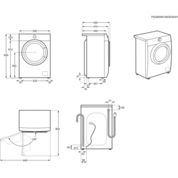 Перална машина Electrolux EW6S427W - Изображение 6