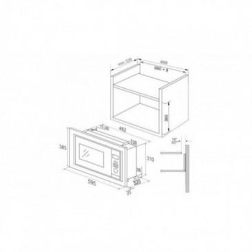 Микровълнова фурна за вграждане Hansa AMM20BEWH - Изображение 2