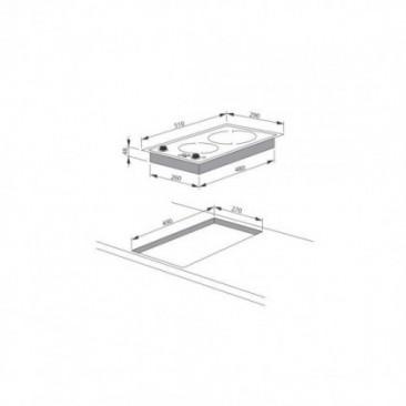 Плот за вграждане Hansa BHCI35133030 - Изображение 2