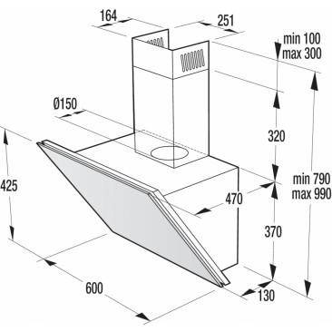 Стенен тип абсорбатор Gorenje WHI643ORAB - Изображение 1