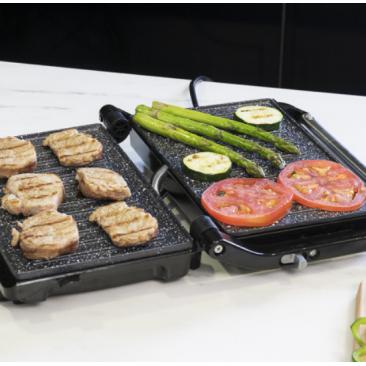 Kонтакт грил Cecotec Rock'n grill 750 Full Open - Изображение 1