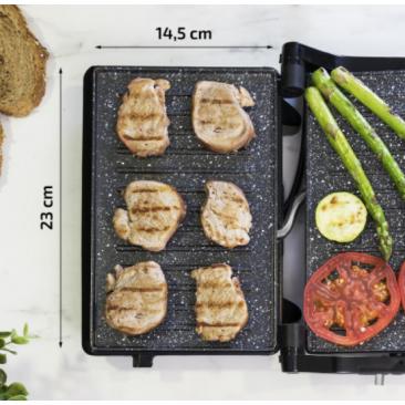 Kонтакт грил Cecotec Rock'n grill 750 Full Open - Изображение 4